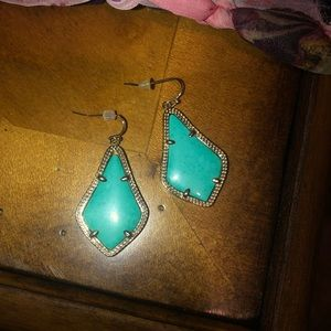 Kendra Scott Teal Drop Earrings